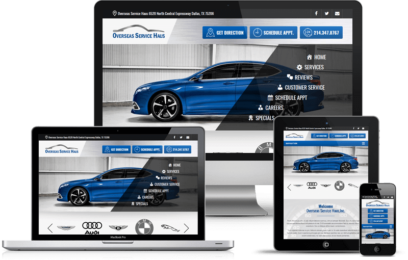Web Design for Auto Repair Shop in Dallas TX