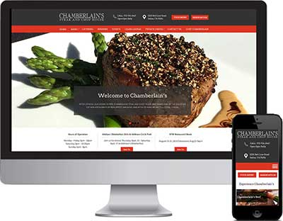 Chamberlain's Website Design