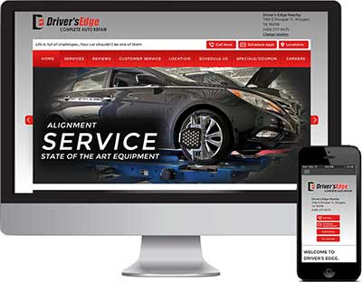 Web Design Driver's Edge DFW and Austin, TX