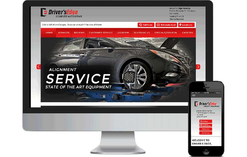 Web Design for Driver's Edge Auto Repair