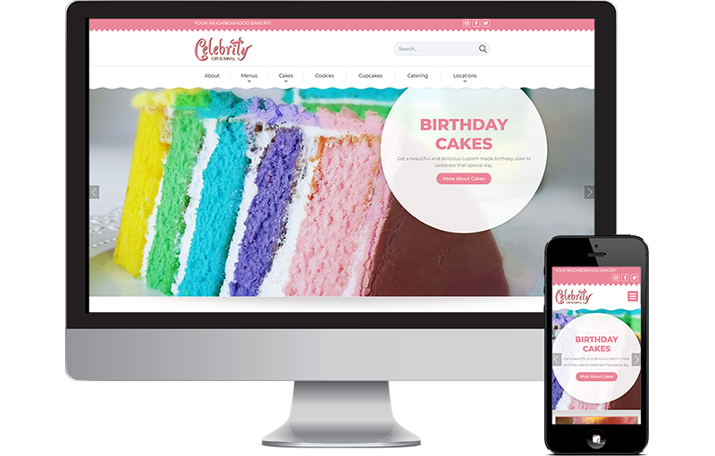 Celebrity Cafe and Bakery Website Redesign