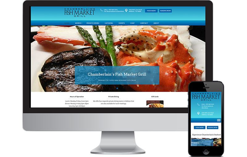 Web Design Chamberlain's Seafood