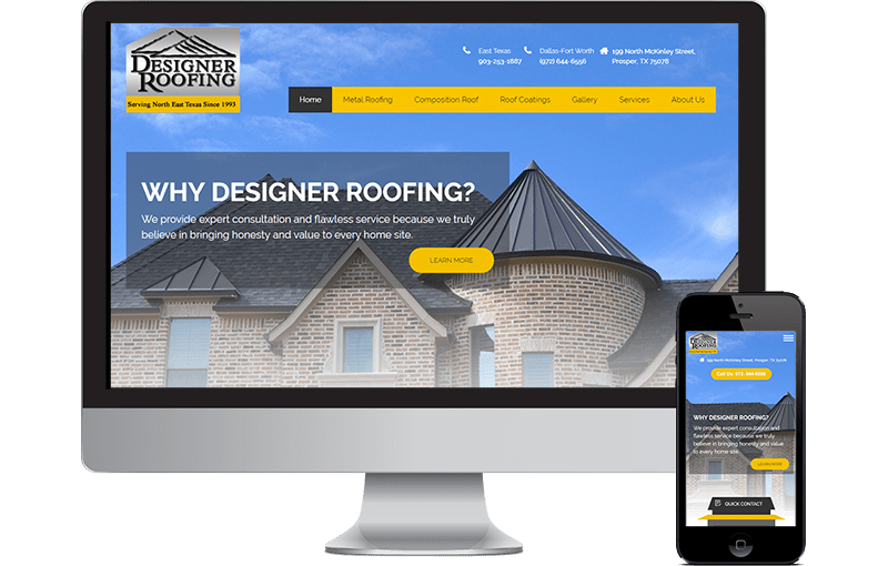 Designer Roofing Website Design
