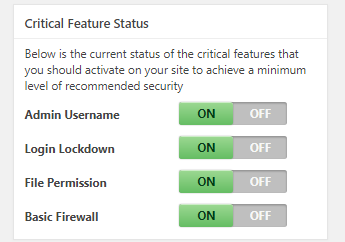 WP Critical Security Features