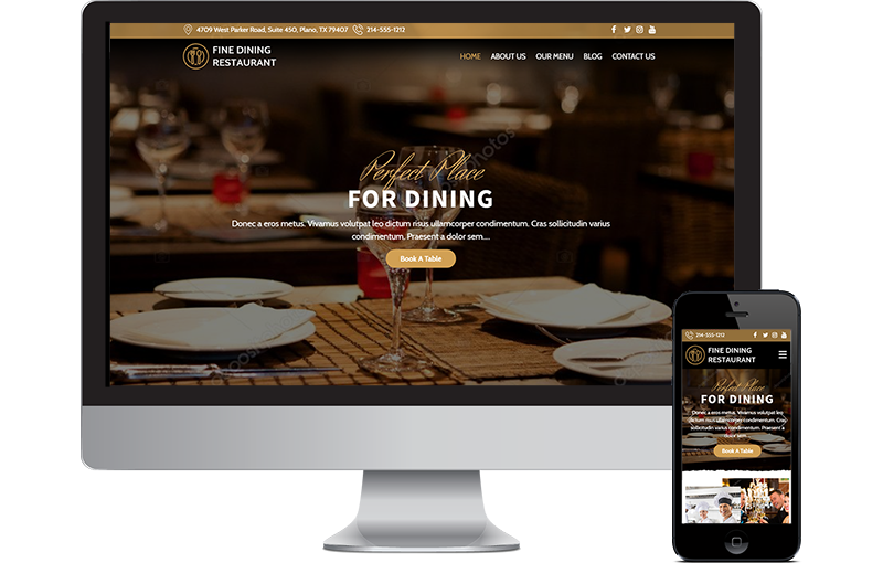 fine dining restaurant website Frisco TX