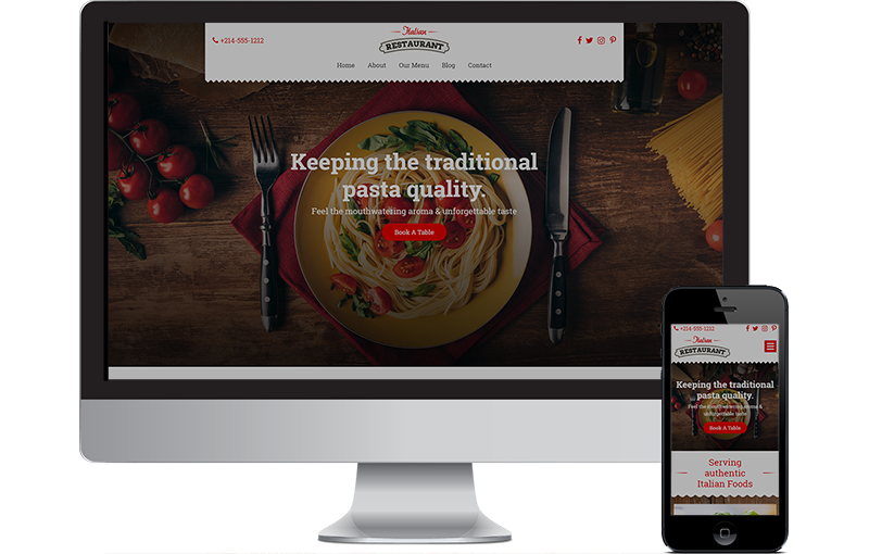 Best Italian restaurant website design