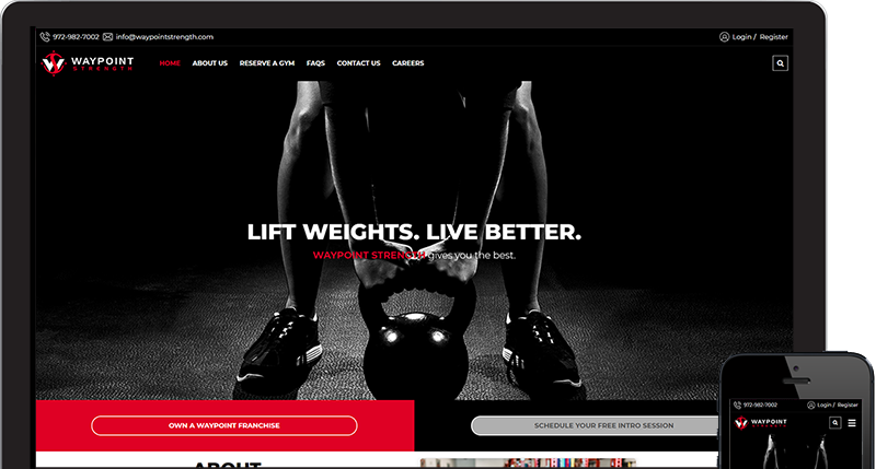 Dallas based gym concept website