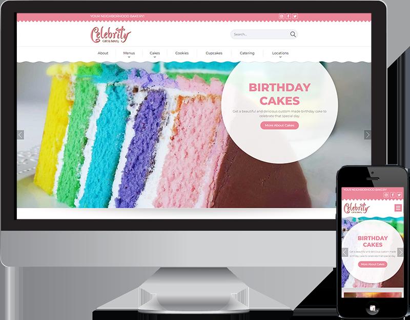 Plano Bakery Celebrity Cafe Website