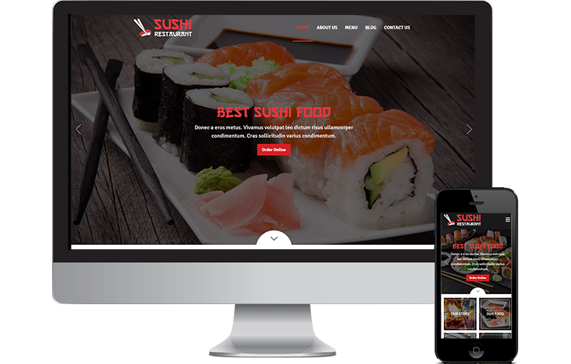 Sushi Website Theme by Seota