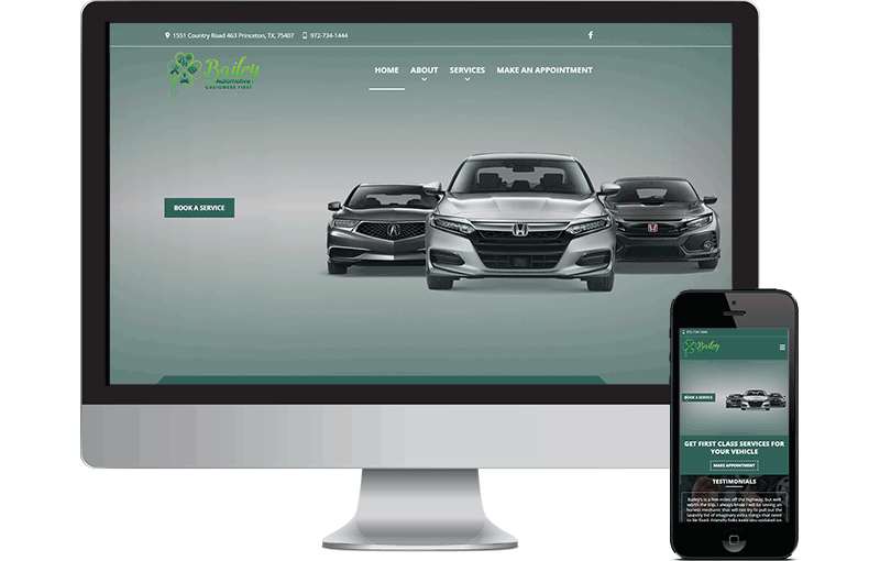 Bailey Auto Repair Website Design screenshot
