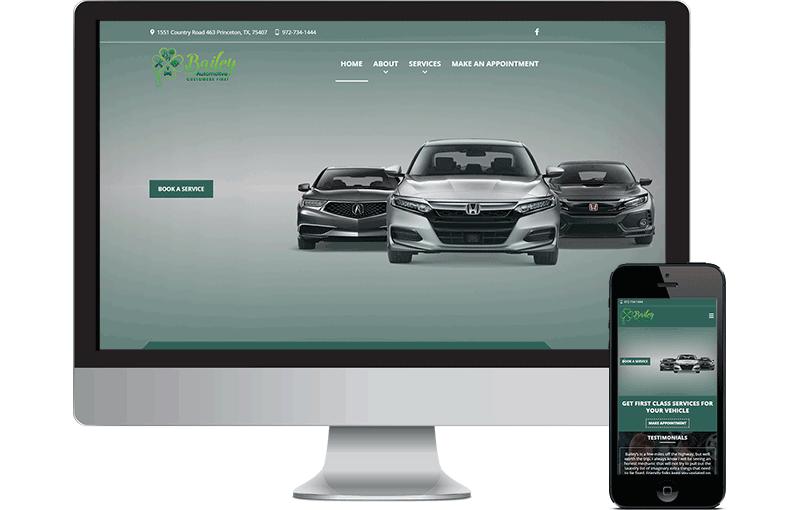Bailey Auto Repair Website Design screenshot