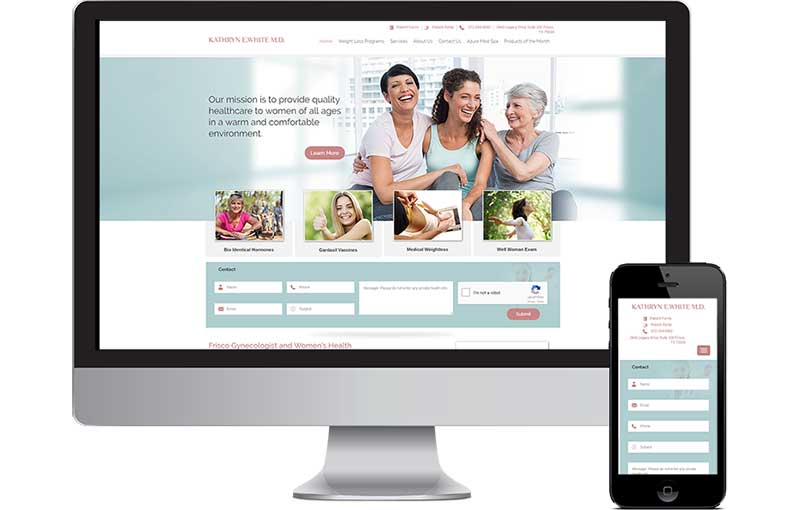 Web Design for Dr. White Frisco GYN