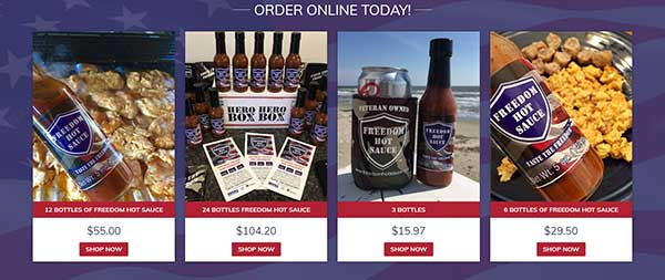 Freedom Hot Sauce eCommerce Build