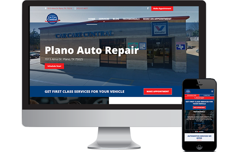 Car Care Central Website Design