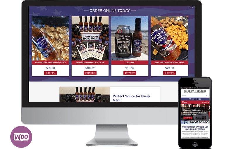 WooCommerce Website Design for Vet Owned Hot Sauce Company