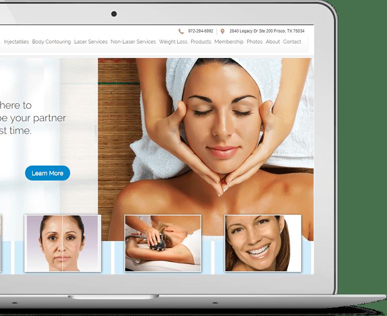 Azure Med Spa Website Design