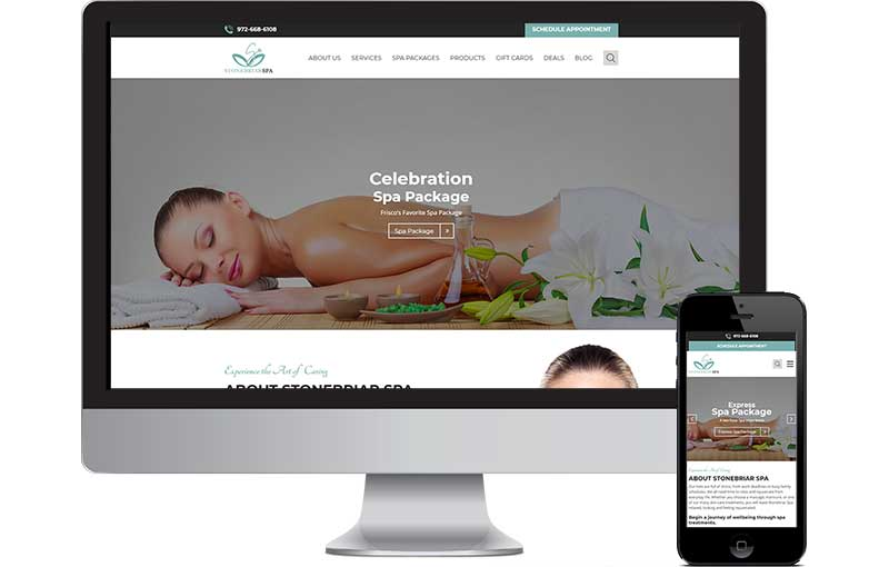 WordPress Website for Stonebriar Spa