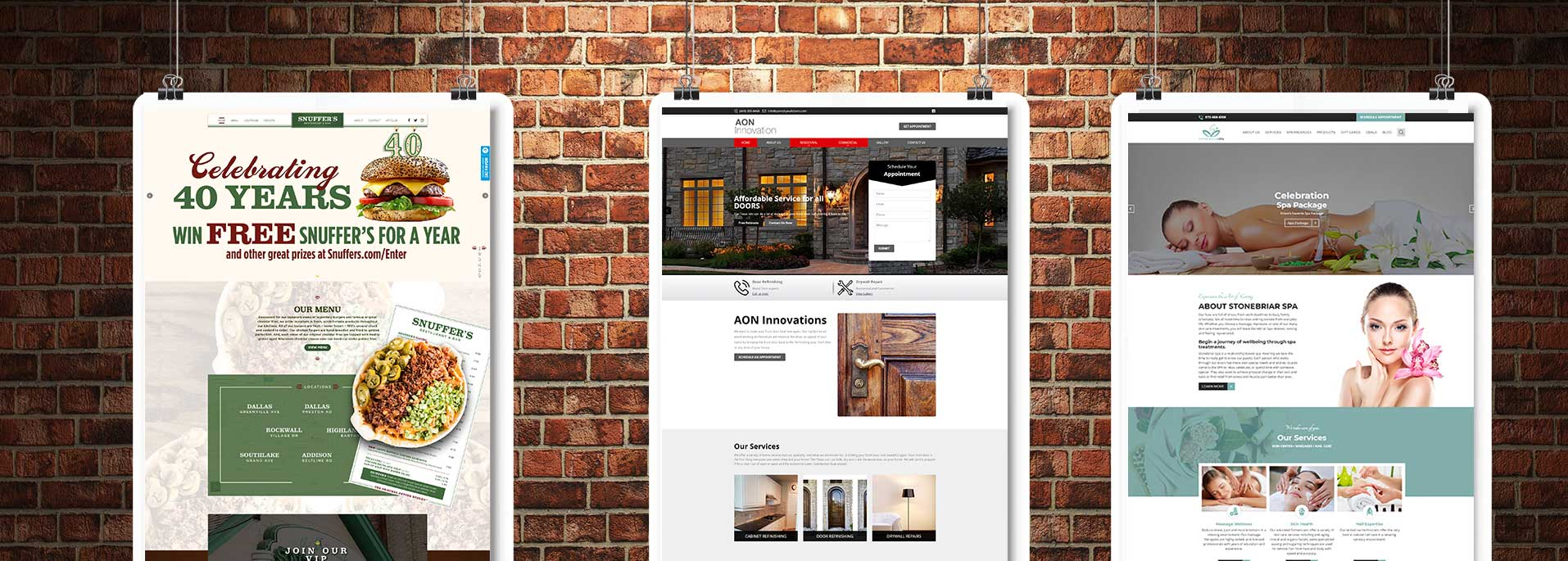 website design banner Wordpress & Custom Design
