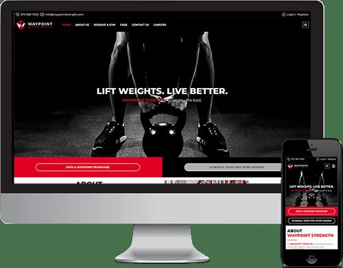 beset Frisco web design for gym concept