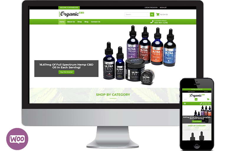 CBD website design Woocommerce