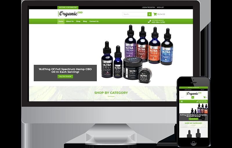 CBD eCommerce Website Design in Frisco, TX