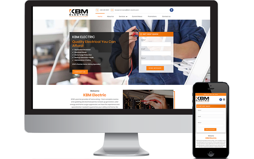 KBM Electric Website Design