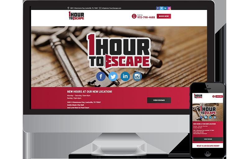 Web design 1 Hour To Escape