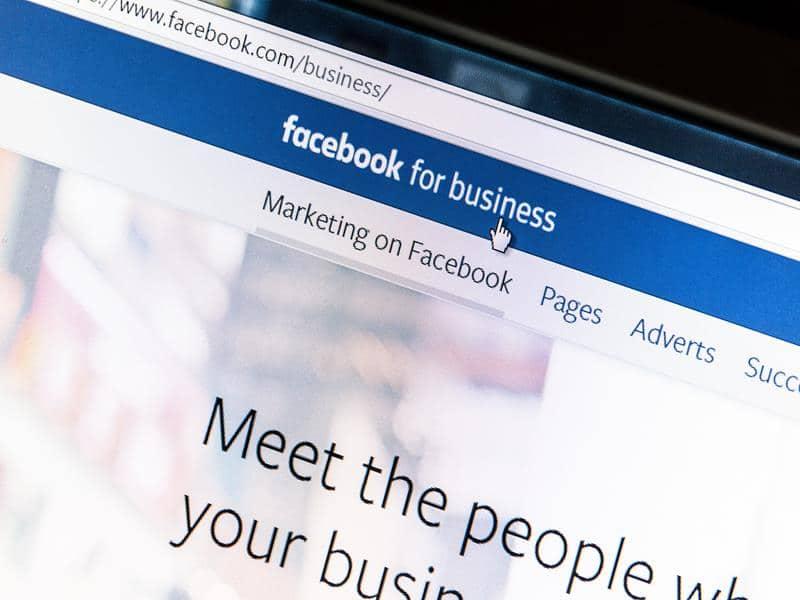 screenshot of Facebook for business