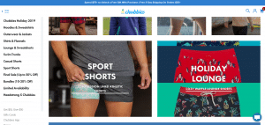 Chubbies holiday mens shorts and sports shorts