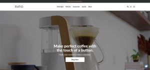 ratio coffee maker brewing coffee