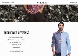 Untuckit image of man with shirt untucked