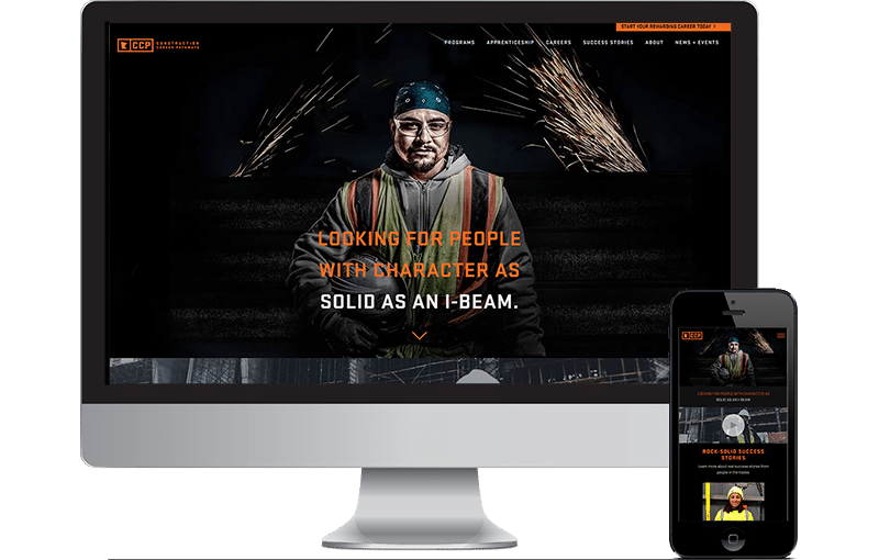 Construction Career Website Design by Seota Digital Marketing Frisco, TX - Phoenix, AZ - Dallas, TX