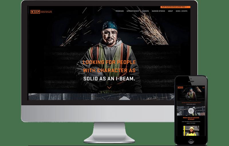 Construction Career Web Design