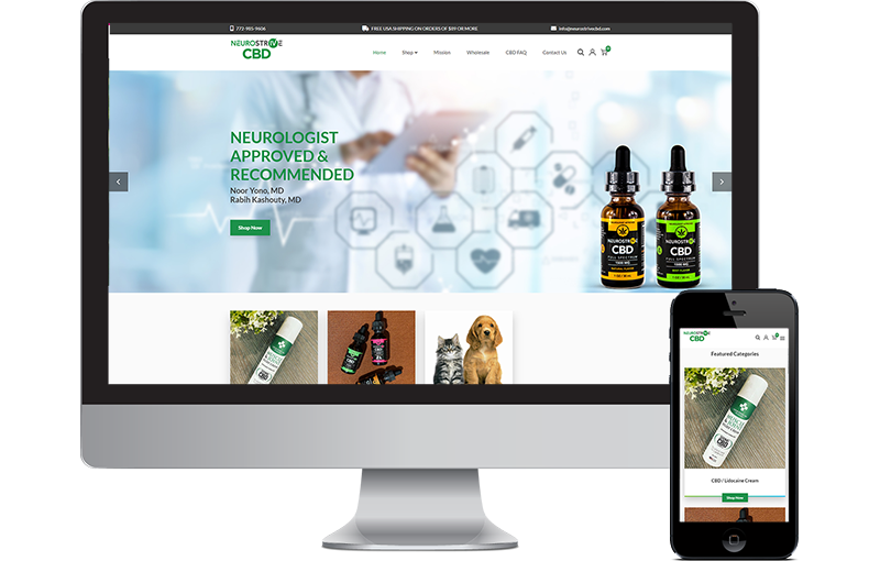 Neurostrive CBD web design woocommerce by Seota Digital Marketing Frisco, TX - Phoenix, AZ - Dallas, TX
