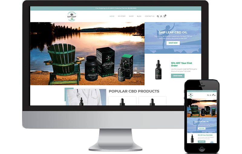 Another Great CBD Web Design by Seota Digital Marketing Frisco, TX - Dallas, TX
