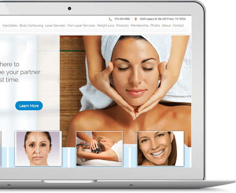 Azure Med Spa Website Design by Seota Digital Marketing Frisco, TX