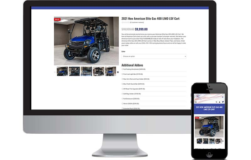 American Carts Website Design