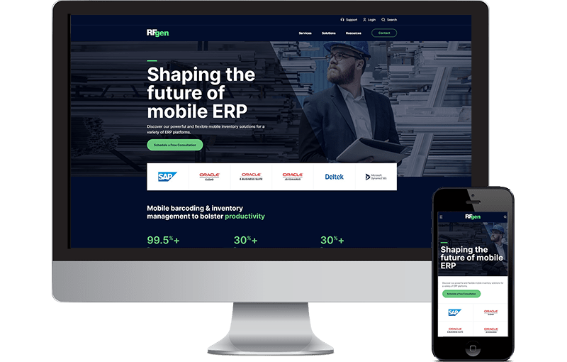 Enterprise Web Design for Software Company