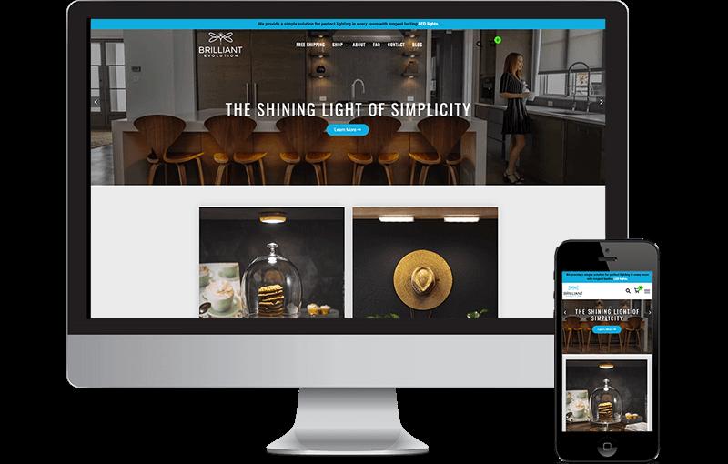 Web Design of a WordPress & Shopify hybrid