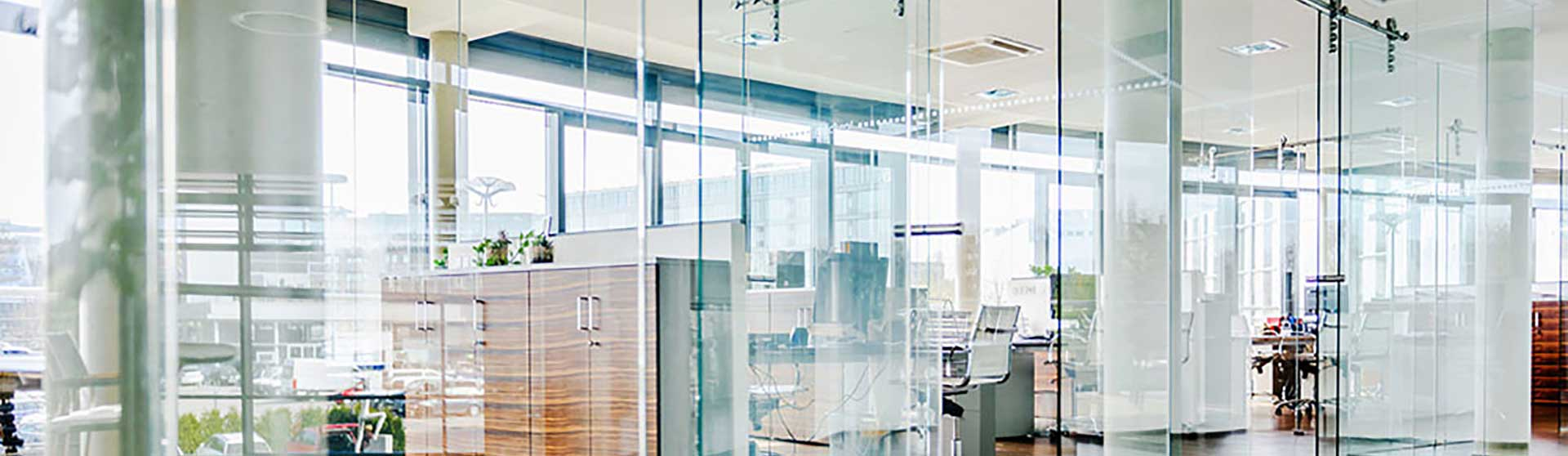 conference room glass banner