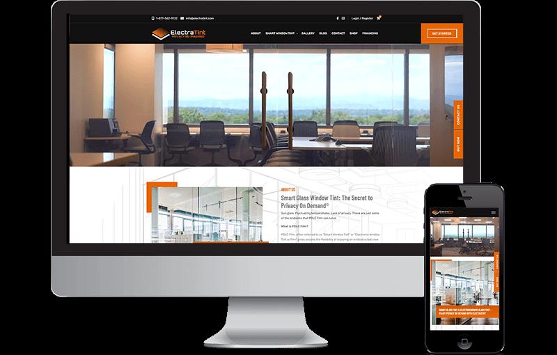 Electratint Website Design 1