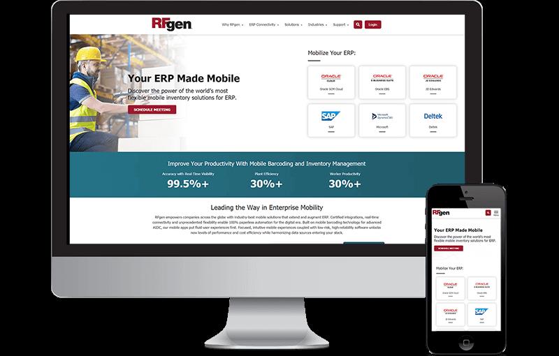 RFgen enterprise website design
