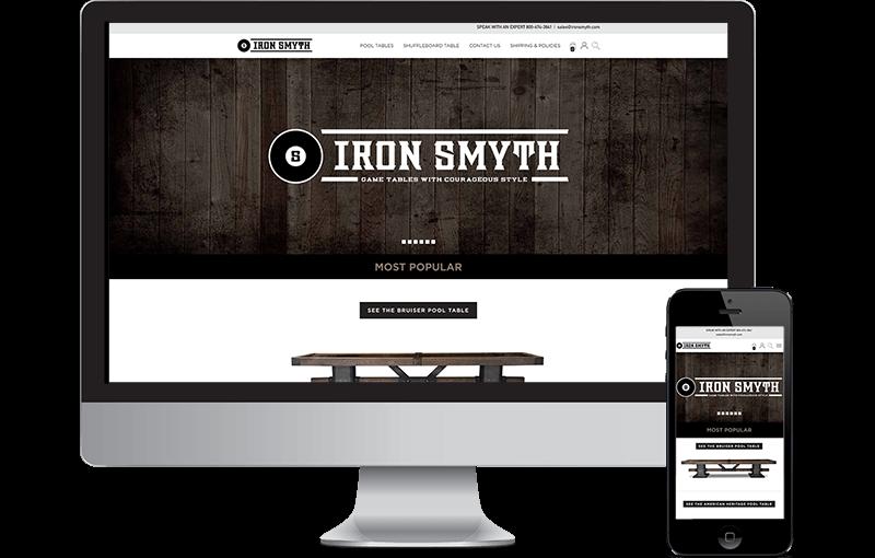 eCommerce website design game tables