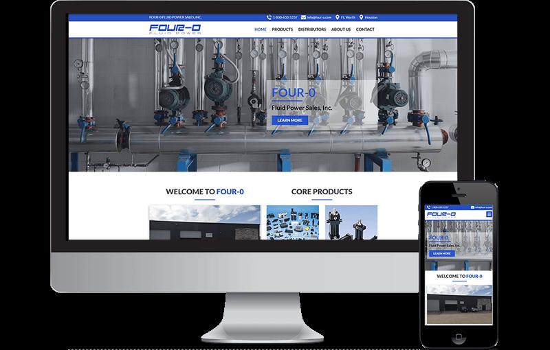 Website Design for a Distribution Company