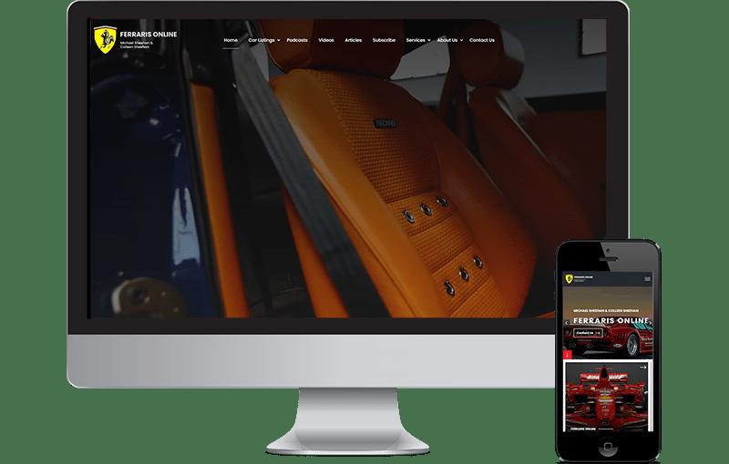 Ferrari's Online Web Design