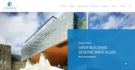 large b2b client website screenshot