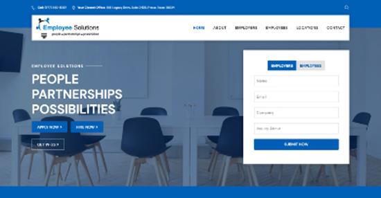 regional staffing firm website screenshot
