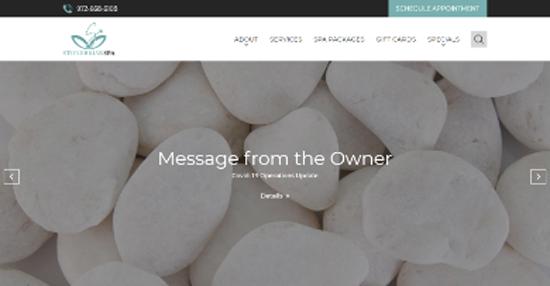 Spa website screenshot