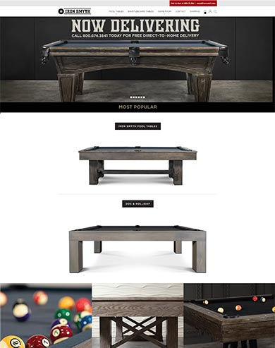 web design for game table by Seota