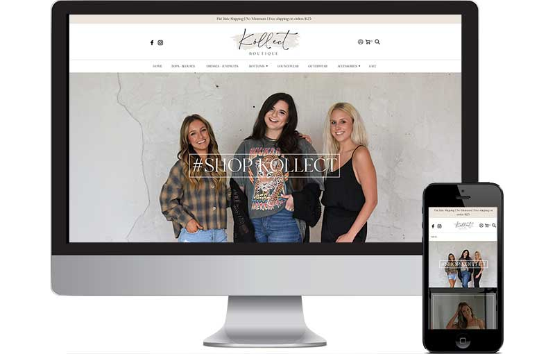Shopify Design for Kollect Boutique